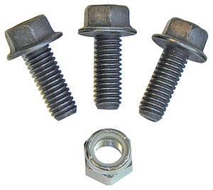 1959-1976 Cadillac Steering Gearbox Cover Bolts - Manual (4 Pieces) Flanged