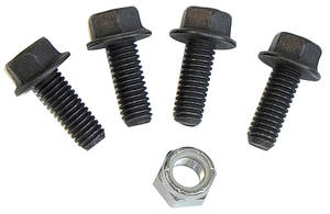 1970-77 Monte Carlo Steering Gearbox Cover Bolts Power, 5 Pieces (Flanged)
