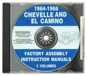 1964-1966 Chevelle Factory Assembly Manuals, CD-ROM