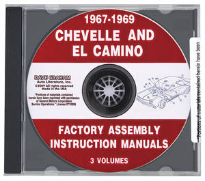 1967-69 Chevelle Factory Assembly Manuals, CD-ROM