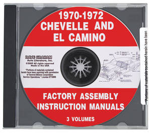 1970-1972 El Camino Factory Assembly Manuals, CD-ROM