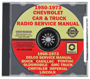 1970-73 Monte Carlo CD-ROM Radio Service Manual, GM