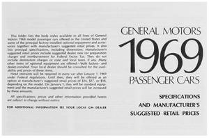 1969 Bonneville Suggested Retail Price Listing, GM Manufacturers