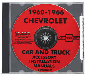 1964-1966 Chevelle Chevrolet Accessory CD-ROM Install Manuals, 1960-66