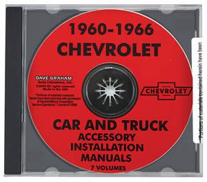 El Camino Chevrolet Accessory CD-ROM Install Manuals, 1960-66