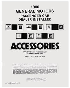 1980 Monte Carlo GM Accessory Listings & Price Schedule
