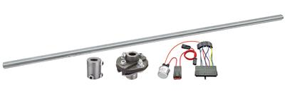 "1966 Cutlass Steering Column Installation Kit Manual 3/4""-30 Rag Joint Floor Shift, Aftermarket Harness"