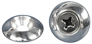 1938-1993 Fleetwood Accent Washer, Billet Aluminum Domed #10 X 3/4""