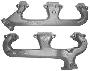 1969-72 Chevelle Exhaust Manifolds, Small-Block w/o Smog