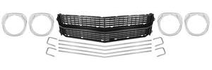 1970-1970 Chevelle Grille Kit, 1970 Chevelle & El Camino (Deluxe) SS, w/Headlight Bezels