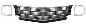 1972-1972 Chevelle Grille Kit, 1972 (Deluxe) SS, w/Headlight Bezels, by RESTOPARTS