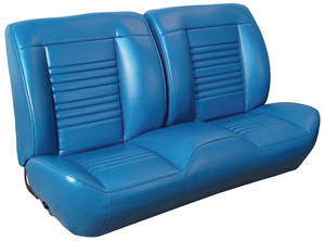 1967 Chevelle Sport Seats Front Bench Upholstery and Foam W/Convertible Rear Upholstery Only