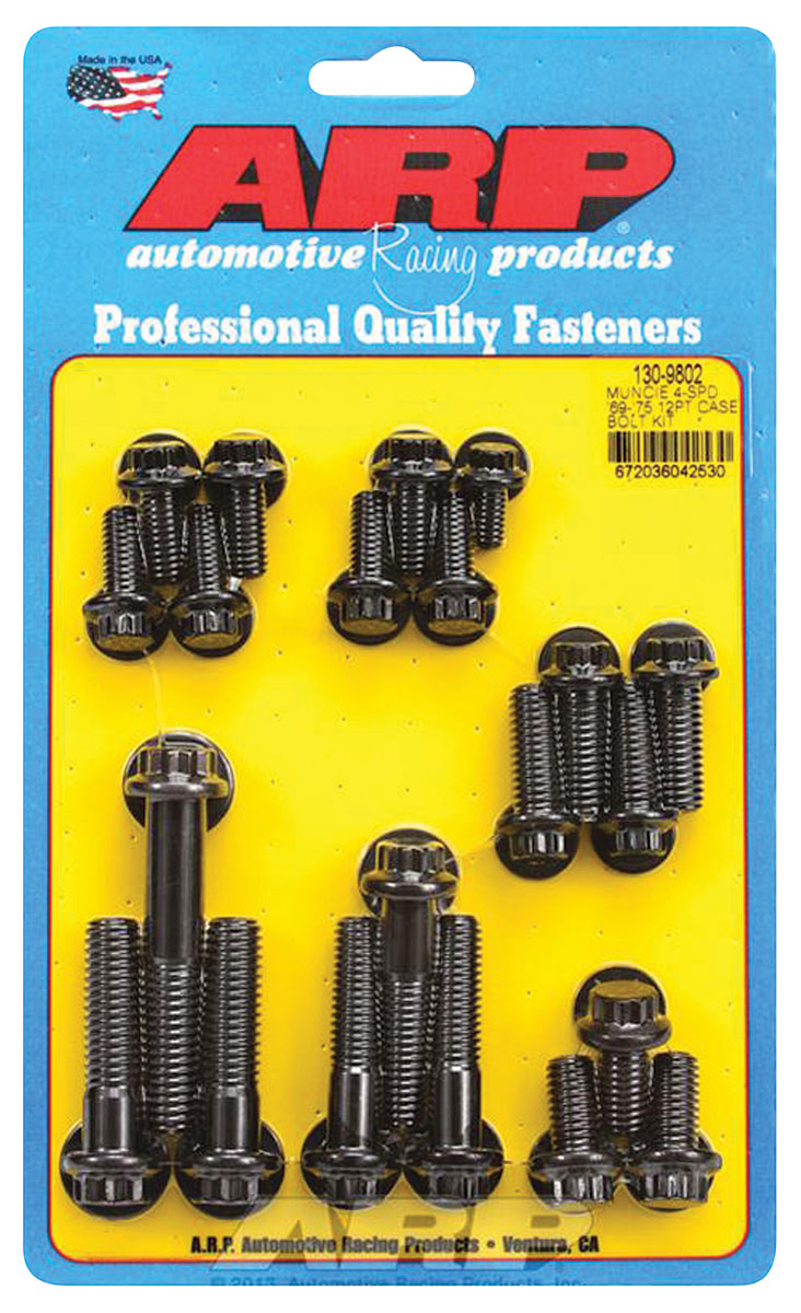 Photo of Transmission Case Bolts, Muncie 4-Speed Black Oxide 12-pt. head