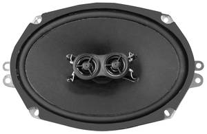 "1970-1977 El Camino Dash Speaker, Replacement 6"" X 9"" Dual Voice Coil - 200 Watts w/Mono Radio, by Retro Manufacturing"