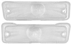 1966-1966 Chevelle Park Lamp Lens, 1966 Chevelle & El Camino Clear, by TRIM PARTS