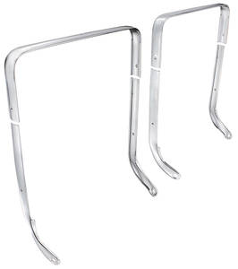 1962-65 Grand Prix Bucket Seat Chrome Trim Curved Inner