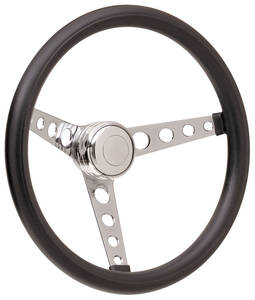 1969-77 Bonneville Steering Wheel Kits, Classic Foam Tall Cap - Polished with Polished Center, Late Mount