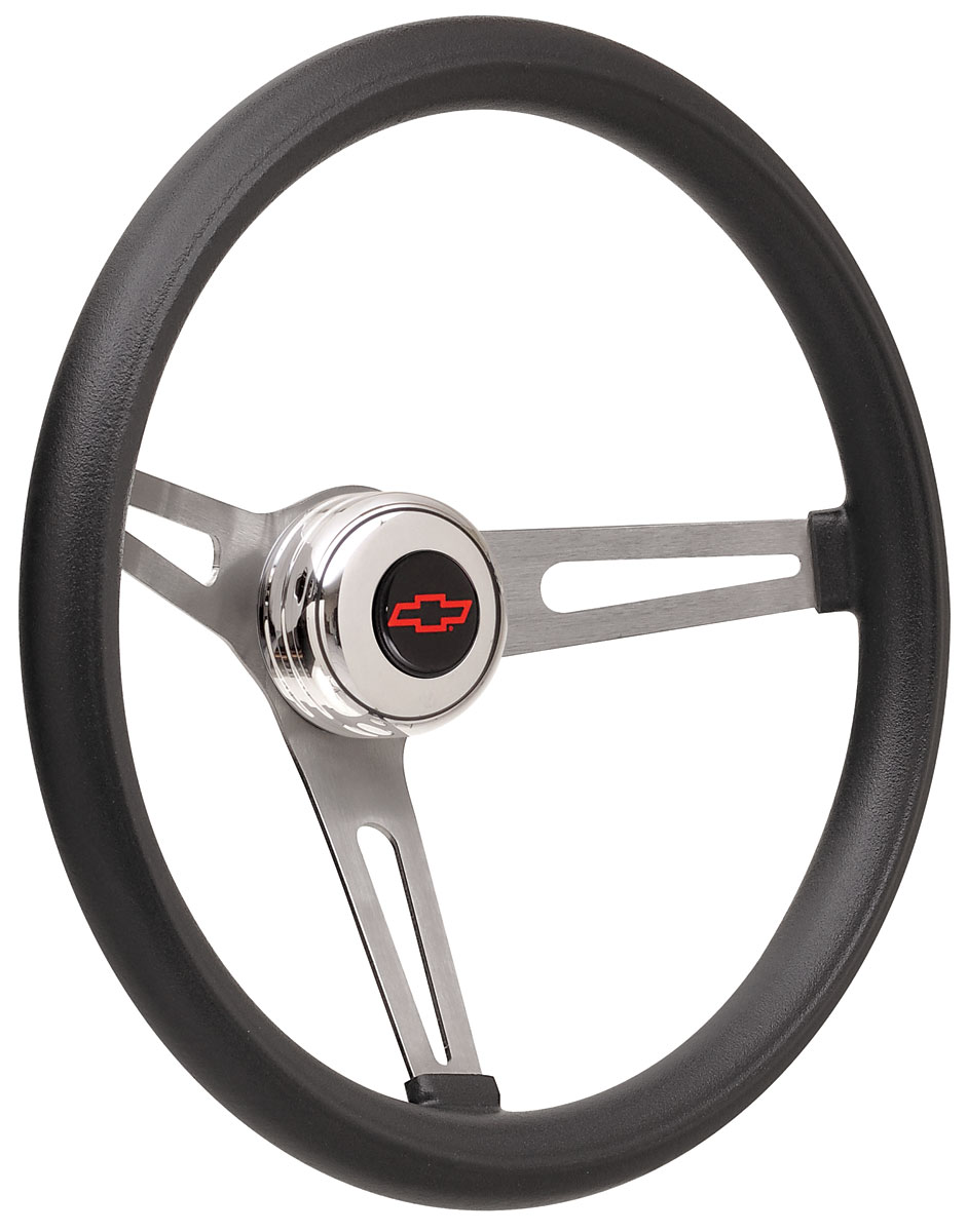 Photo of Steering Wheel Kits, Retro Foam Tall Cap - Polished with red Bowtie center