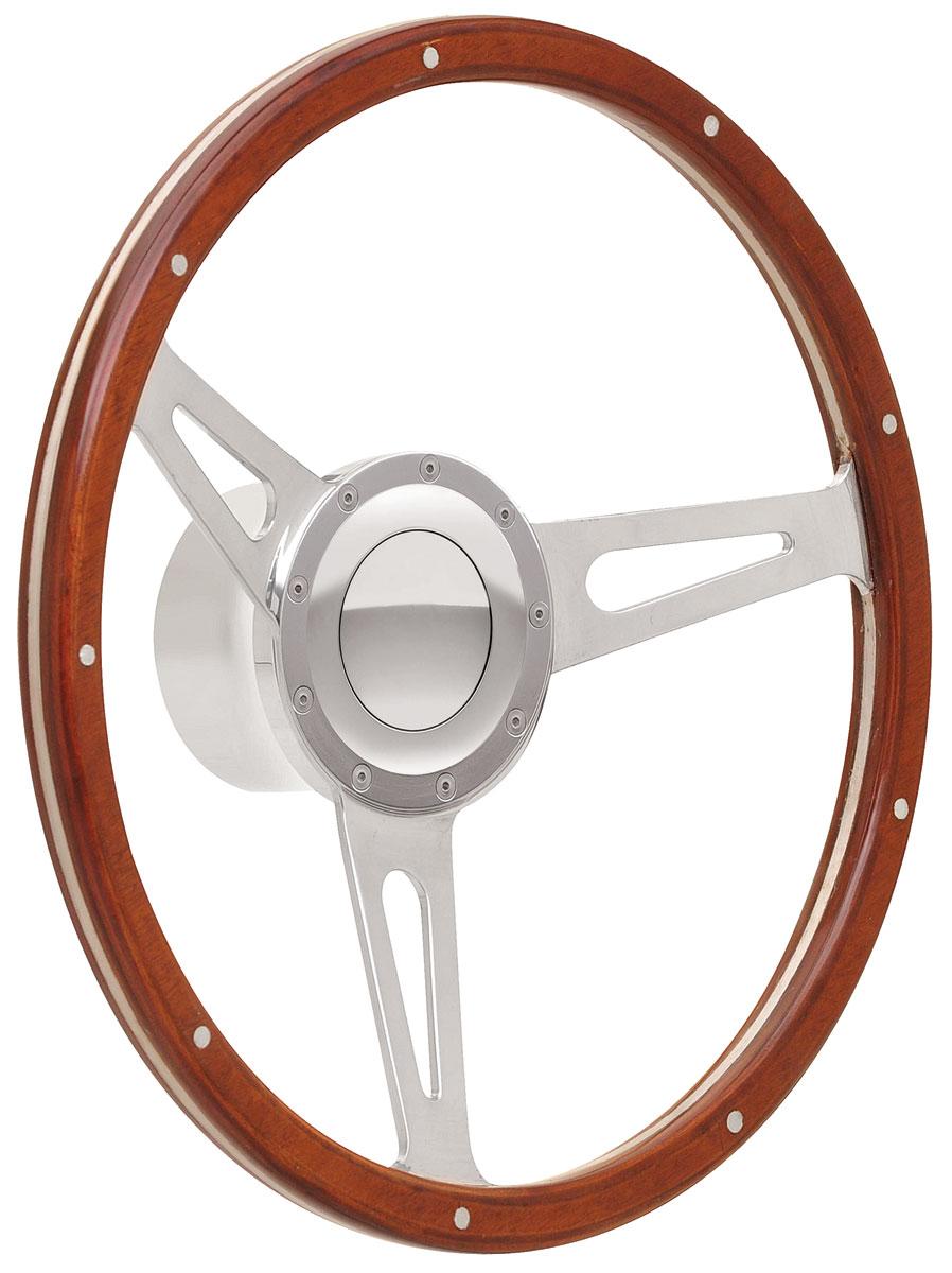 Photo of Bonneville Steering Wheel Kits, Retro Cobra Wood with large cap, early mount