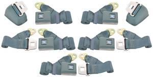 1968-1972 Chevelle Seat Belt Direct Fit - Oe Style Front Retractable Lap, 3 Rear Lap