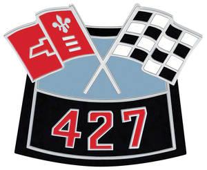 Emblem, Air Cleaner Crossed Flags 427