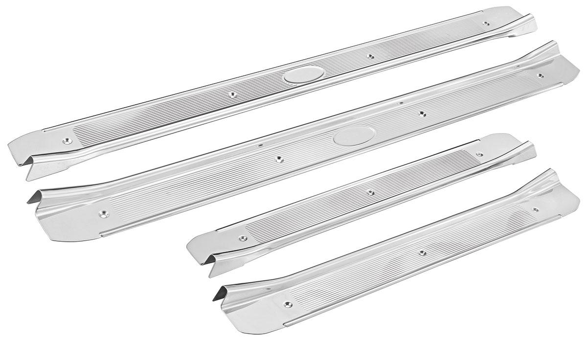 Chevelle    Step    Plates     Stainless Steel 4dr sedan  wribs