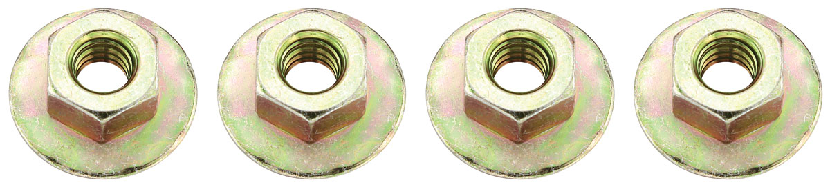 "Photo of El Camino Hardware, Side Glass Mounting GM door track/window mounting nuts, 1/4""-20, 3/4"" (grip washer, 4-pcs.)"