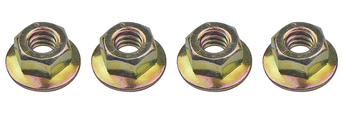 """Photo of Hardware, Side Glass Gm Door Track/Window (Stop Nuts: Smooth Washer Type ; 1/4""""-20 x 5/8"""", Four-Piece)"""