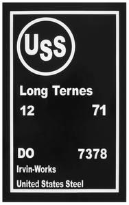 1971 Bonneville Fuel Tank Stencil