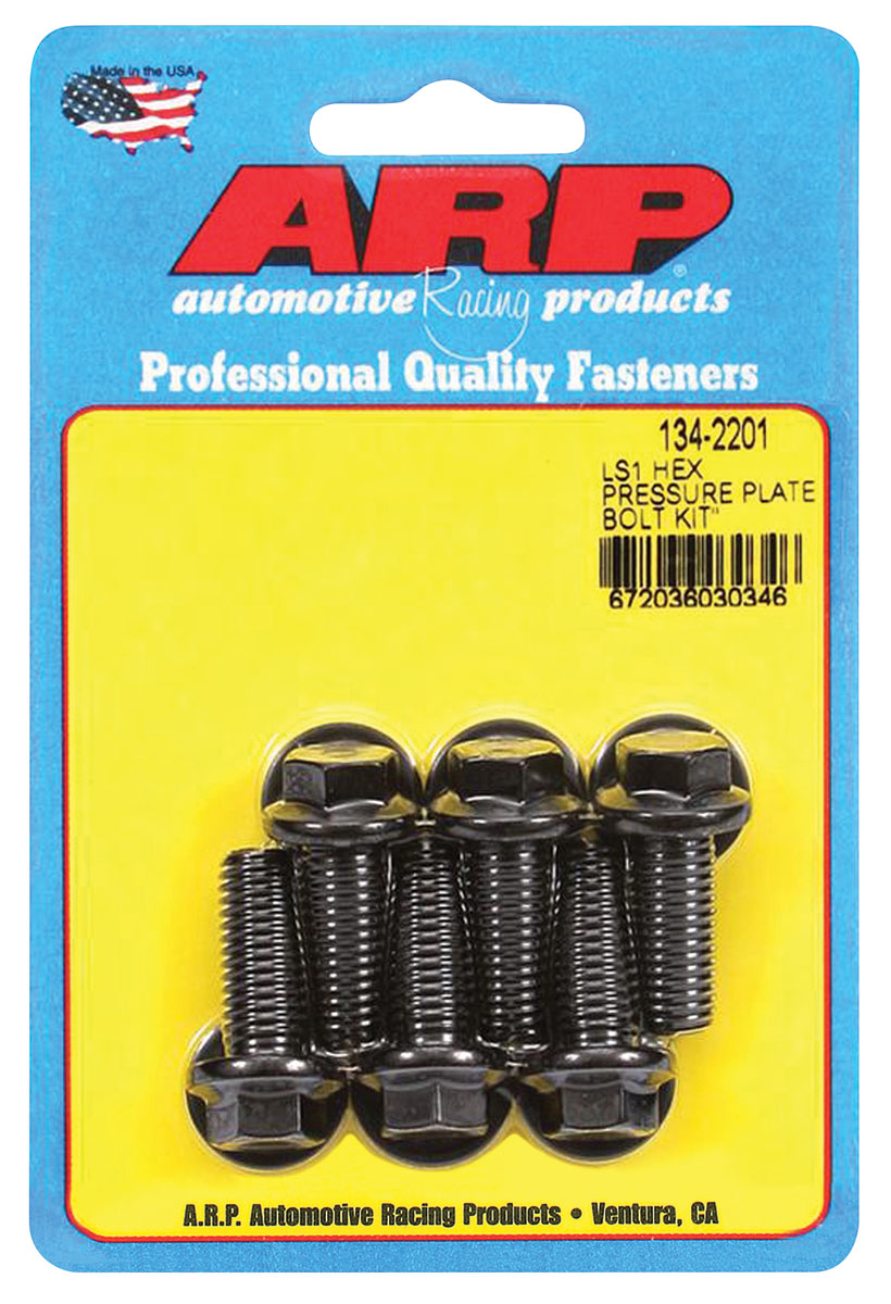 """Photo of Pressure Plate Bolts LS Series, 10""""/11"""" Clutch, 12-Point Head, Black"""