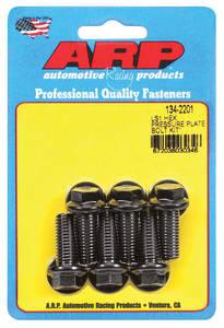 "1959-1977 Bonneville Pressure Plate Bolts LS Series, 10""/11"" Clutch, 12-Point Head, Black"