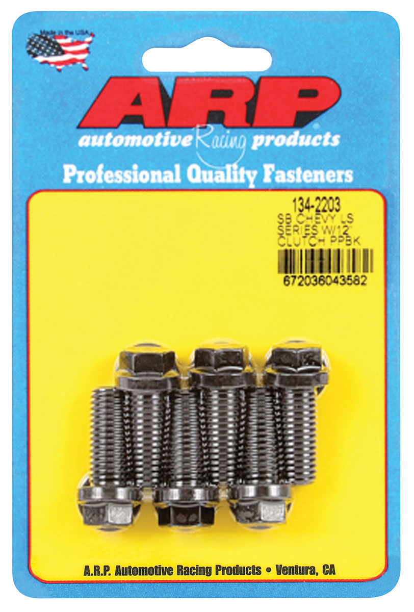"""Photo of Pressure Plate Bolts LS Series, 12"""" Clutch, 12-Point Head, Black"""