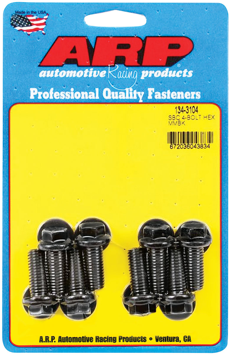 Photo of Motor Mount Bolts (High-Performance) Ls, 8-Pcs. 12-point head - black oxide