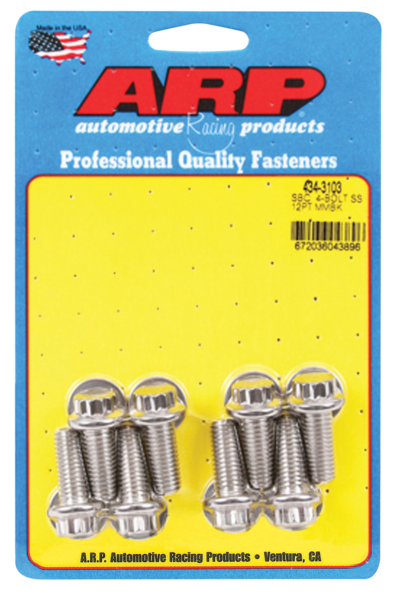 Photo of Motor Mount Bolts Ls, 8-Pc. 12-point head - stainless steel