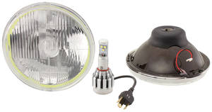 "1959-77 Bonneville Halo Headlights 7"" LED High/Low"