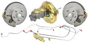1968-1972 Skylark Brake Kit, Drop Spindle Disc Delco Moraine Booster Standard Kit