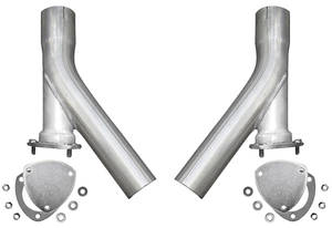"1938-93 60 Special Exhaust Dump Extensions, X-Pipe (3"" Dump Legs)"