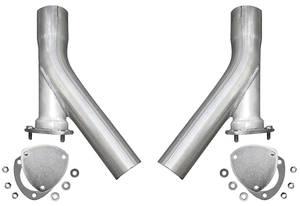 "Dump Extensions, X-Pipe Exhaust 3"" dump legs"