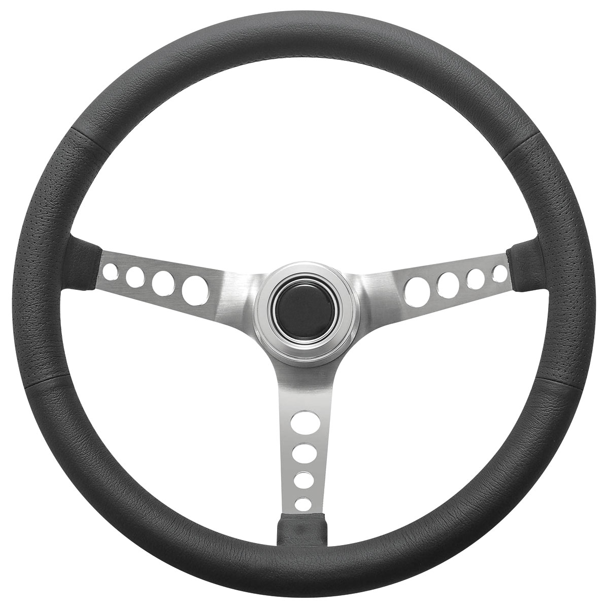 Photo of Steering Wheel Kit, Retro Wheel With Holes Hi-Rise Cap - Polished with polished center