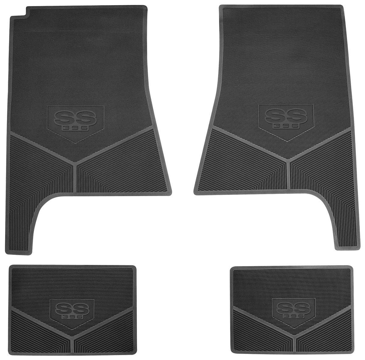 Legendary Auto Interiors 1968 72 Floor Mats Rubber Logo
