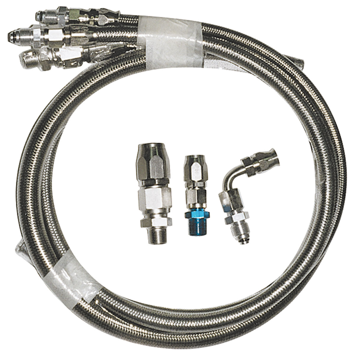 Stainless Power Steering Lines : March performance power steering hose kit braided