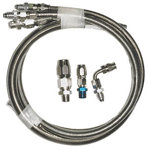 1959-1976 Bonneville Power Steering Hose Kit, Braided Stainless