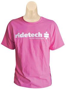 Women's Ride Tech Logo T-Shirt Pink Crew Neck