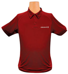 Ride Tech Logo Polo Shirt Red