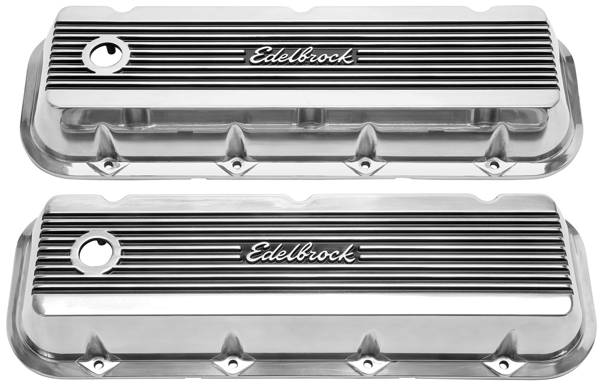 "Photo of Valve Covers, Edelbrock Elite II Big Block, 3"" tall"