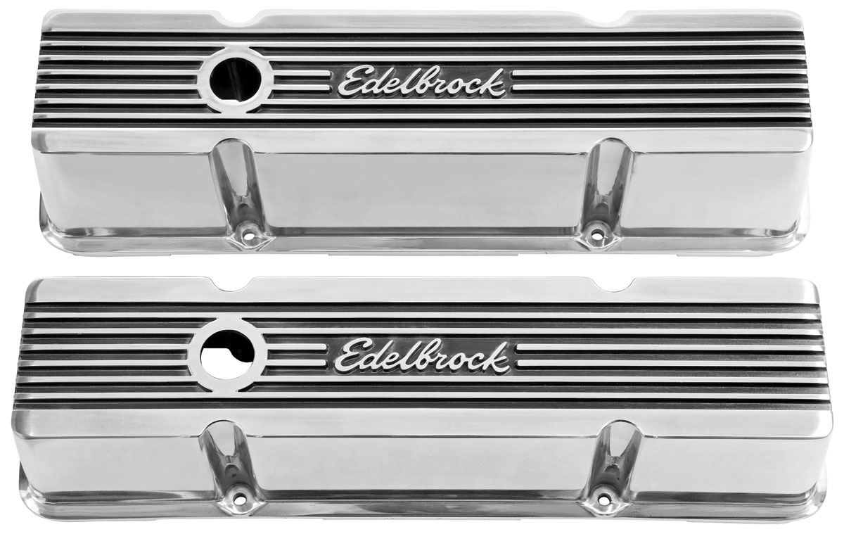 "Photo of Valve Covers, Edelbrock Elite II Small Block, 4.4"" tall"