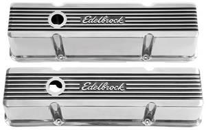 "1978-1988 El Camino Valve Covers, Edelbrock Elite II Small Block, 4.4"" Tall"