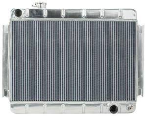 "1966-67 Chevelle Radiators, Aluminum 15-3/8"" X 24-3/4"" MT, w/o AC"