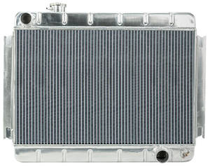 "1966-67 Chevelle Radiators, Aluminum 15-3/8"" X 24-3/4"" MT, Driver Inlet"