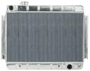 "1966-67 Chevelle Radiators, Aluminum 15-3/8"" X 24-3/4"" AT, w/o AC"